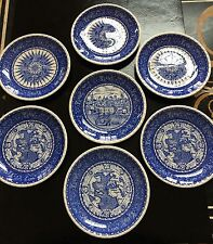 "Discovery 1492 Columbus Seven 7 1/4""Plates And Five 6"" Plates, Nikko Japan. Mint"