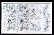 Civil War Map Harper's Ferry Winchester Strasburg - Atlanta to Savannah March
