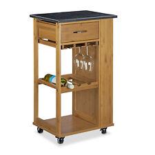 Küchenwagen Bambus Küchenrollwagen Servierwagen Rollwagen Marmor Küchentrolley