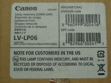 NEW GENUINE OEM CANON LV-LP06 PROJECTOR LAMP WITH ASSEMBLY 200W UHP 4642A001 HQ