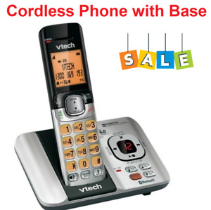 Cordless Phone with Base NBN OK Cord Free Office Handset Dect Bluetooth Connect