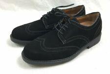 G.H. Bass & Co. Landon Men's Wing Tip Oxfords Size 9 M - New Black Suede Shoes