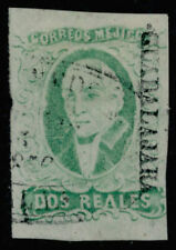 zr09 Mexico #3b 2R Plate 1 Emerald, Guadalajara Sz 295 Est $40-60 Early Use