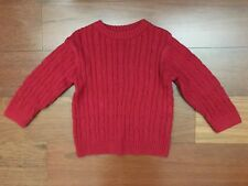 Crew Neck Red Cable Knit Sweater 3T Long Sleeve J Khaki