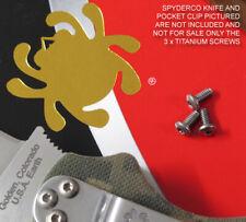3 x Custom Titanium Pocket Clip Screws for Spyderco Paramilitary PM2 (NO KNIFE)