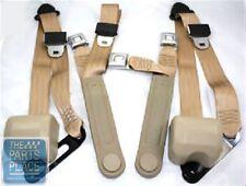 78-87 Chevrolet El Camino Retractable OE Style Bench Seat Belts W/ Center - Tan