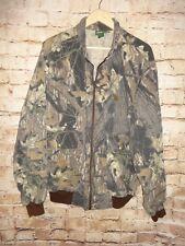 Men's Cabela's Camouflage Cotton Poly Zipper Front Jacket SZ 2XL XXL