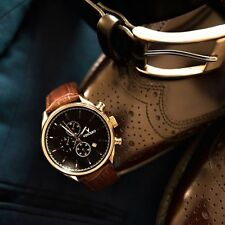 VINCERO Watches Chrono ROSE GOLD Leather Men's Luxury Watch *New In  Box