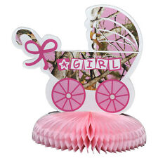 """10"""" Pink Camo Baby Shower Its A Girl Party Table Centerpiece Decoration"""