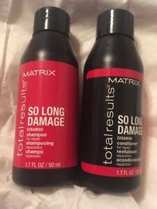 MATRIX Total Results So Long Damage Shampoo & Conditioner 1.7 oz Ea TRAVEL SIZE