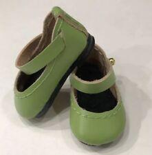 "Boneka O38N Leather Lime Shoes Effner 10"" Doll Plusczok 25cm Bleuette sld2"