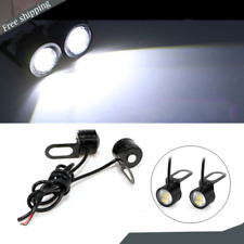 2x Motorcycle Headlight Spotlight LED Light Daytime Running Lamp White