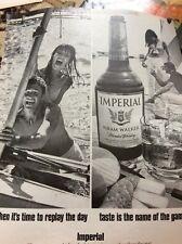 N1-8 Ephemera 1972 Advert Imperial Hiram Walker Whisky Replay The Day
