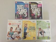 Lot of 5 Nintendo Wii Exercise Fitness Active Just Dance Jenny McCarthy Camera