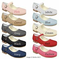 Sevva Girls Spanish Patent Mary Jane Strap Flat Shoes UK Size 4(EU20)-2(EU34)