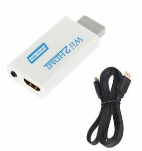 Wii zu HDMI Wii2 HDMI Full HD 1080P HDTV Konverter Adapter mit Kabel