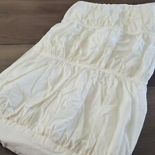 Anthropologie Nimbus/Cirrus ? Euro Pillow Sham in Ivory - Ruched Pleated Cotton