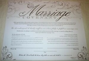 Wedding Vow Renewal MARRIAGE COVENANT Keepsake 11 x 14 Certificate, Psalm 127:1