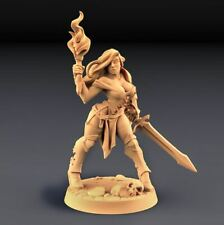 Warhammer miniatures Elena-The beauty/female fighter for Age of Sigmar,9th Age,