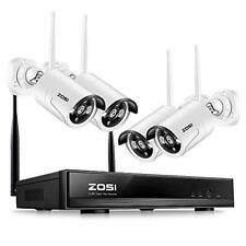 Hd Wireless Outdoor Indoor Security Camera System /w Smartphone Support 4 Pack
