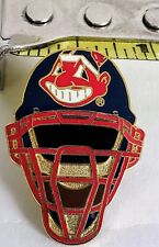 CLEVELAND INDIANS Chief Wahoo Catchers Helmet - Lapel Pin Tac - 1997 Aminco MLB