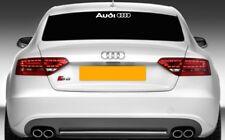 1 x AUDI-Arrière Écran-Voiture Vinyle Sticker Autocollant Adhésif (s' adapte à tous les modèles)