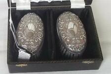 More details for a superb vintage cased pair of sterling silver brushes birmingham 1975-1976