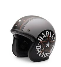 Harley-Davidson Grey Star Retro 3/4 Jet Helm * Gr. M = ca. 57-58 cm - Jethelm