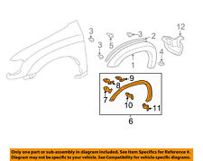 TOYOTA OEM Tundra Front Fender-Wheel Well Flare Arch Molding Left 750860C010