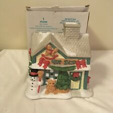 Partylite Toy Shop Christmas Village Tealight Candle Votive Holder P0299 w/ Box