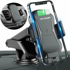 Qi Auto Wireless Charger Handy Halterung Induktions Automatisch Ladegerät KFZ DE