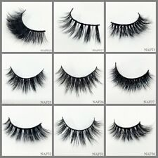 300Pair 100% Mink Hair Natural Long Eye Lashes False 3D Eyelashes Handmade Make