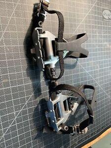 Vintage Toe Clip Aluminum Pedals Adjustable