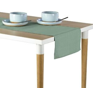 """Pinstripes Hunter Table Runners - 12""""x72"""" or 14""""x108"""""""