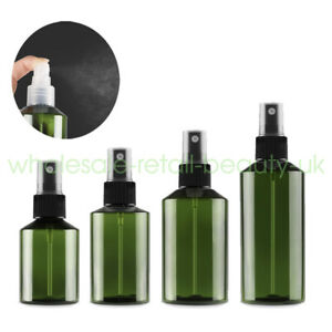 50ml 100ml 150ml 200ml Empty Plastic Green Fine Spray Perfume Cosmetic Bottle