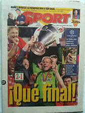 1999 Bayern Munich v Manchester United Ch Lge Final Sport Paper from day after