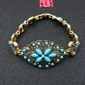 Betsey Johnson Fashion Jewelry Beauty Flower Gemstone Bangle Bracelet