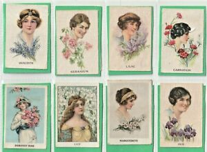 My Weekly 1914 - Set 12 silk. Floral Beauties  Girls to dream of during WW1(S85)