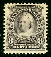 USA 1902 Martha Washington 8¢ Scott # 306 Extremely Fine Mint Non Hinged W705