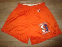 Syracuse Orange Lacrosse Team Running Training Champion Shorts LG L Adult
