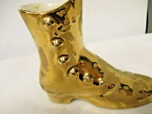 Older American Bisque USA 22K Gold Shoe Figuring-Weeping Gold Style