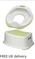 1 X IKEA TOSSIG CHILD TRAINING TOILET SEAT WITH 1 FOOT STOOL PERFECT COMBINATION