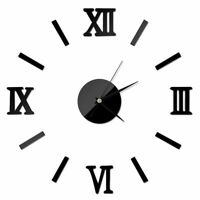 Modern Acrylic Wall Clock 3D DIY Roman Numeral Designed Home Watch Decors Clocks