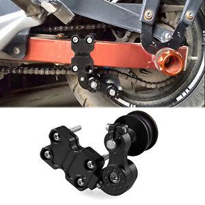 Universal Portable Motorcycle Adjuster Chain Tensioner Bolt On Roller Tool BK UK