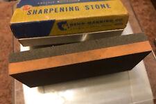 Vintage Norton IB-134 India* Combination Oil Stone Behr-Manning Rare Sharpening
