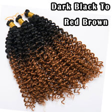 "14""Real as Human Hair Deep Wavy Braiding Crochet Twist Braids Hair Extensions US"