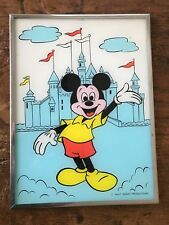 """""""Mickey Mouse""""  Reverse Painting on Glass WALT DISNEY PRODUCTIONS"""