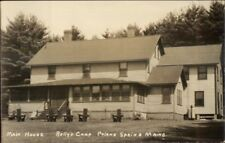 Poland Spring ME Rolly's Camp Main House Real Photo Postcard #4