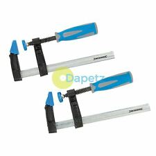 2Pce f-clamp set 150 x 50mm strong soft grip hobby menuiserie charpenterie bricolage