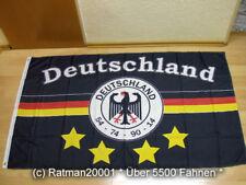 Fahnen Flagge Deutschland Schwarz 4 Sterne Fan - 90 x 150 cm